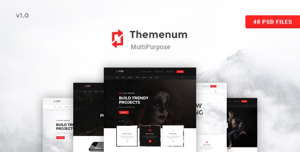 Themenum - A stunning and Creative Multipurpose PSD Template - Creative PSD Templates
