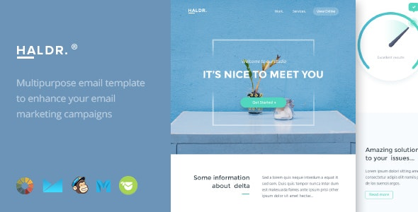 Haldr - HTML Email Template + Builder 2.0 - Email Templates Marketing