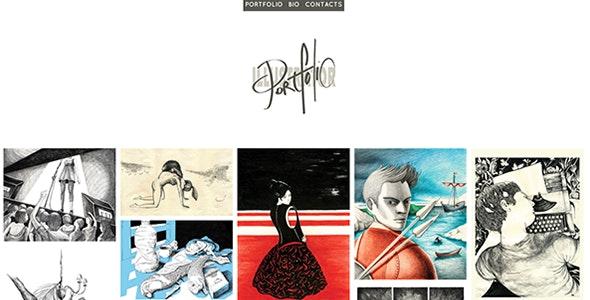 Illustrator - A Responsive Minimal Portfolio - Portfolio Creative