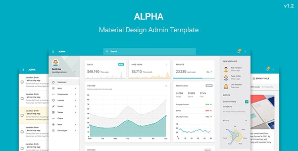 Alpha - Material Design Admin Template - Admin Templates Site Templates