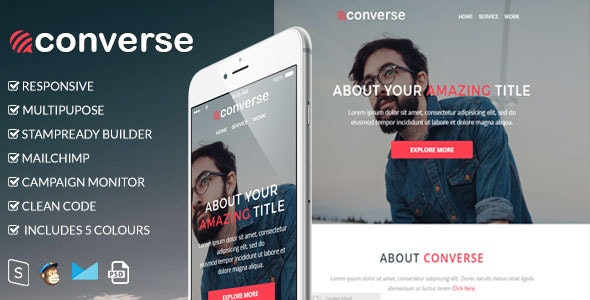 Converse - Responsive Email Template - Newsletters Email Templates