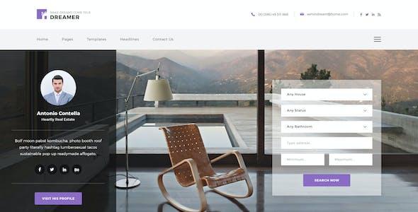 Dreamer - Single Property Agent PSD Template