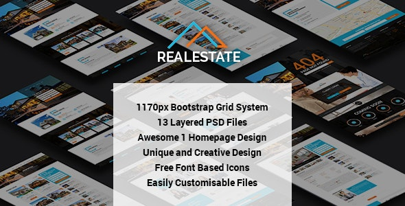 RealEstate - Multi Purpose PSD Template - Business Corporate