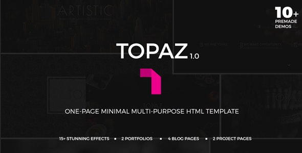 Topaz | Multi-purpose One Page Minimal Template - Corporate Site Templates