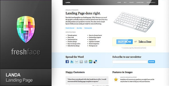 LANDA - Landing Page - Corporate Landing Pages