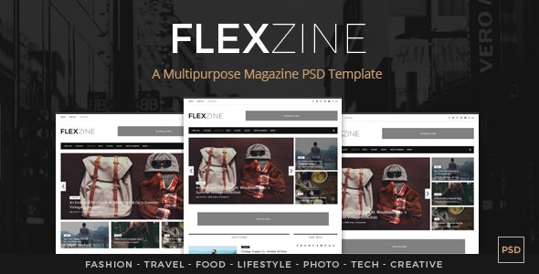 FlexZine -  Magazine PSD Template - Miscellaneous PSD Templates