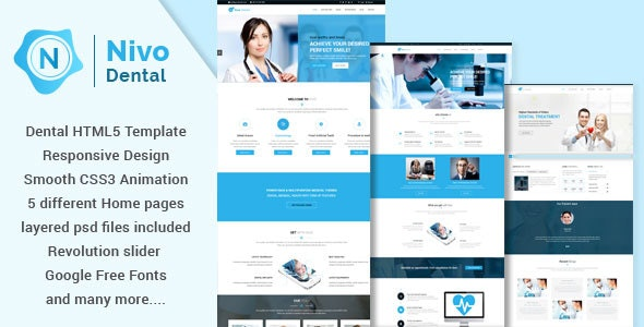 Nivodental - Responsive Multi-Purpose HTML5 Template - Health & Beauty Retail