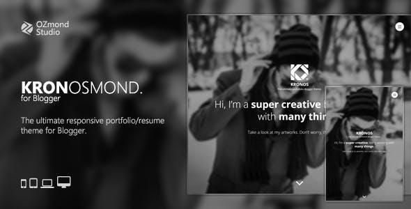 Kronosmond: The Ultimate Responsive Portofolio Theme for Blogger