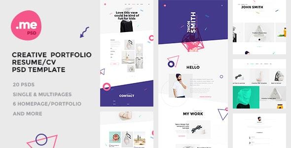 Me - Creative Portfolio & Resume / CV PSD Template - Portfolio Creative