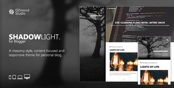 ShadowLight: A Theme for Personal Blogging - Blogger Blogging