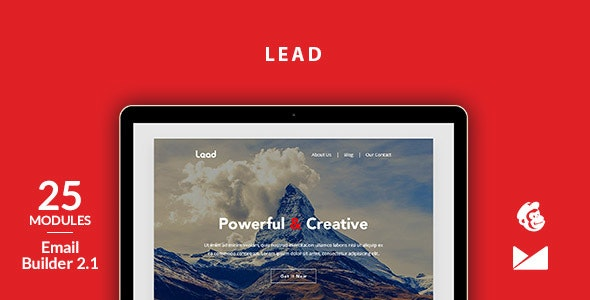 Lead Email Template + Online Emailbuilder 2.1 - Newsletters Email Templates