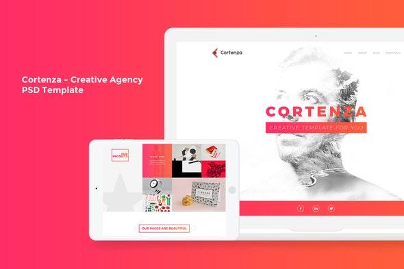 Cortenza - Creative Agency PSD Template - Creative Photoshop