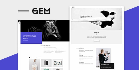 Gem - A Minimalist Template for Professionals - Creative Site Templates