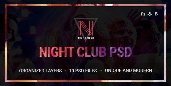 Night Club - Event, DJ, Party, Music PSD Template - Nightlife Entertainment