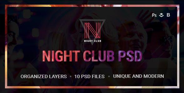 Night Club - Event, DJ, Party, Music PSD Template