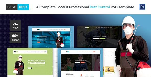 Best Pest | Bug Control PSD Template - Business Corporate