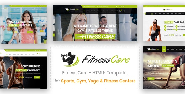 Fitness Care -  Gym and Sports HTML5 Template - Health & Beauty Retail