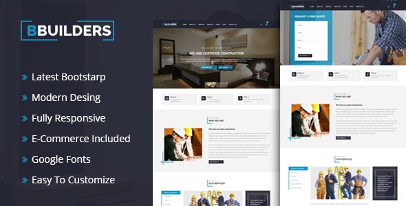 BBUILDERS - Construction and Plumber HTML5 Template - Corporate Site Templates