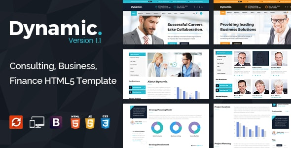 Dynamic - Consulting, Finance HTML5 Template - Business Corporate