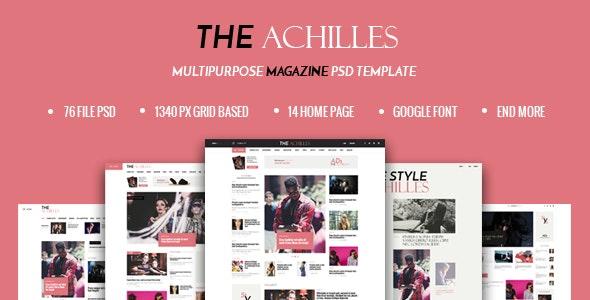 ACHILLES - Multipurpose Magazine PSD Template - Photoshop UI Templates