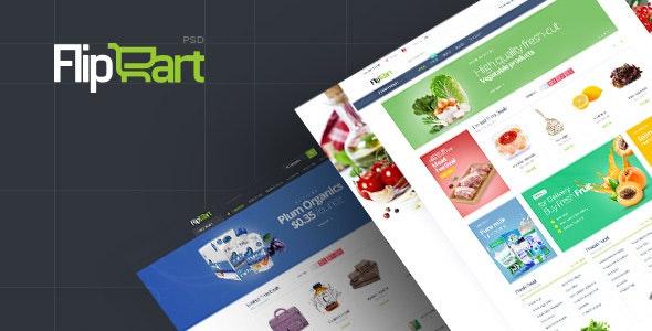 Flipcart - Supermarket PSD Template - Miscellaneous PSD Templates