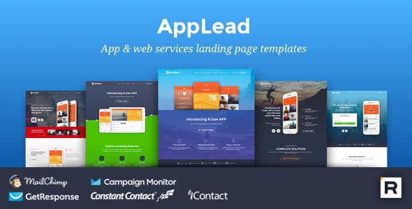 Mailchimp and Parallax Landing Pages & Templates