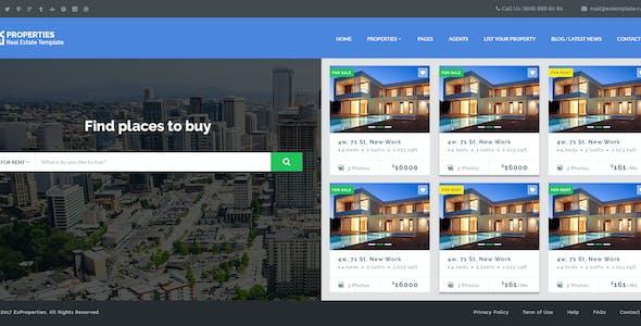 EX Properties – Real Estate Template