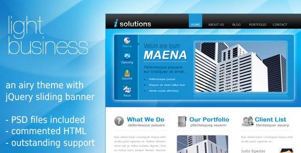 Light Business Template - Corporate Site Templates