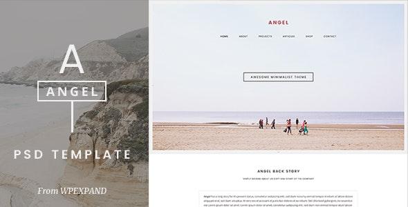 Angel - One Page PSD Template - Portfolio Creative