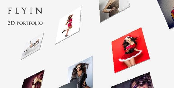 FLYIN - 3D Creative Portfolio Theme - Portfolio Creative
