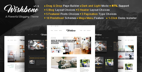 Wishbone - A Clean & Powerful WordPress blogging theme - Personal Blog / Magazine
