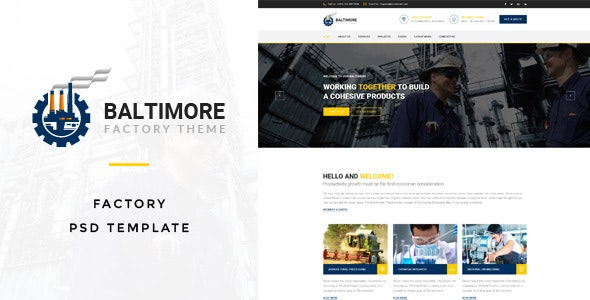 Baltimore : Factory PSD Template - Business Corporate