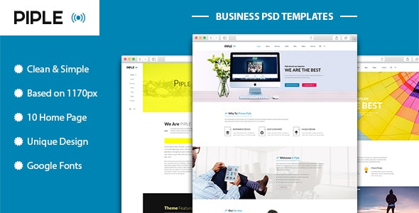 Piple-wifi - Business and multipurpose PSD Template - Business Corporate