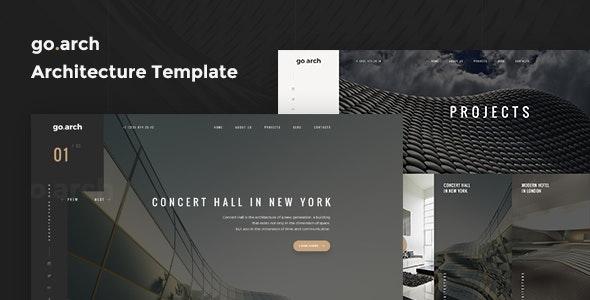 go.arch - Architecture PSD Template - Art Creative