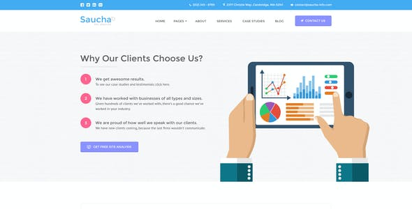 Saucha - Marketing & Seo PSD Template