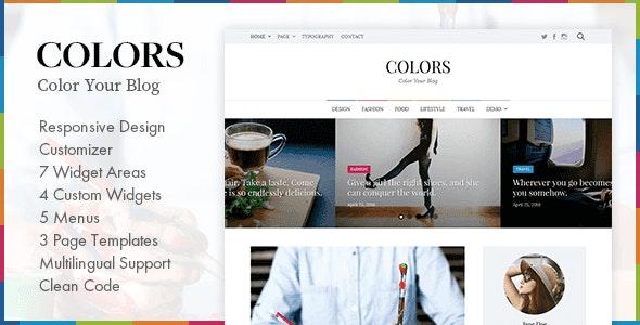 Colors - Simple Blog & Magazine WordPress Theme - Personal Blog / Magazine