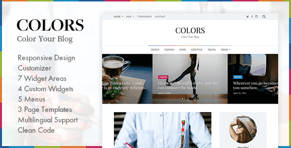 Colors - Simple Blog & Magazine WordPress Theme - Personal Blog / Magazine