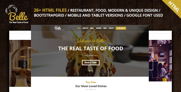 Belle - Food & Restaurant HTML Template - Food Retail