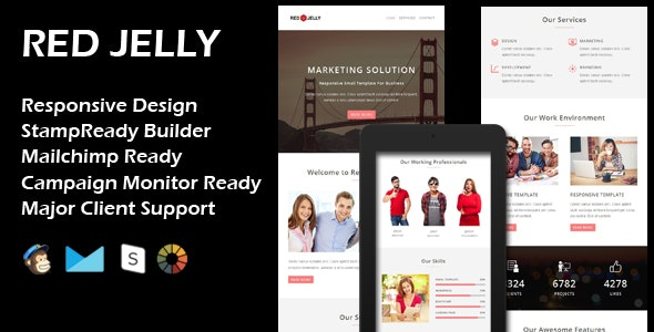 RED JELLY - Multipurpose Responsive Email Template - Email Templates Marketing