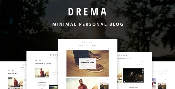 Drema - Minimal Personal Blog Template - Personal Site Templates