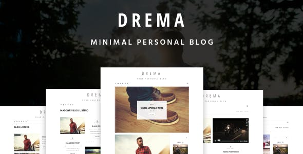 Drema - Minimal Personal Blog Template