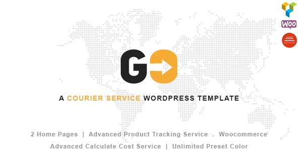 GO Courier– Delivery Transport WordPress Theme by Jthemes