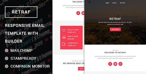 Retraf - Responsive Multipurpose Email template with Stampready builder - Email Stationery Email Templates