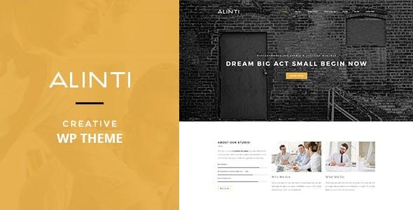 Alinti - Minimal Creative WordPress Portfolio