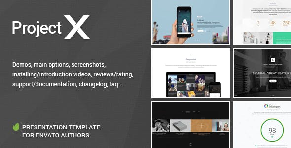 Project—X Presentation Template for Envato Authors