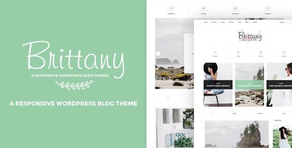 Brittany - A Responsive WordPress Blog Theme - Personal Blog / Magazine