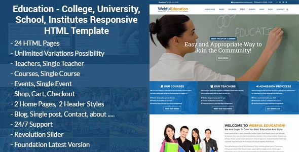 Educnio - Education HTML Template - Business Corporate