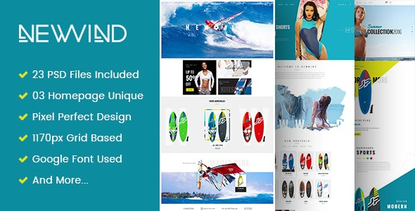 NewWind - eCommerce PSD Template - Retail Photoshop