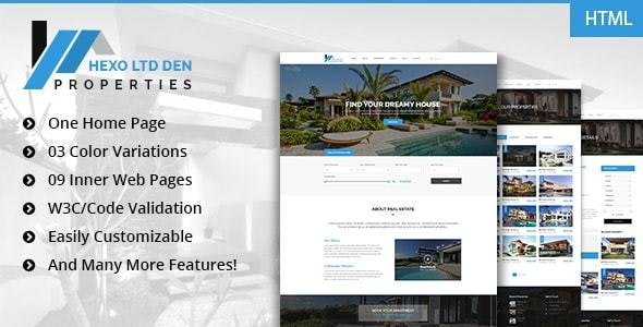 Hexo - Premium RealEstate HTML Template - Corporate Site Templates