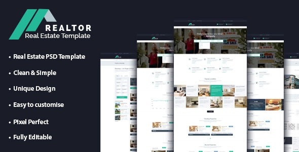 Realtor Real Estate PSD Template - Business Corporate